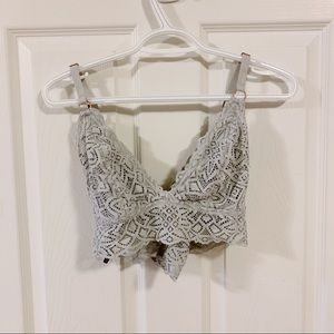 Aerie light grey lace bralette